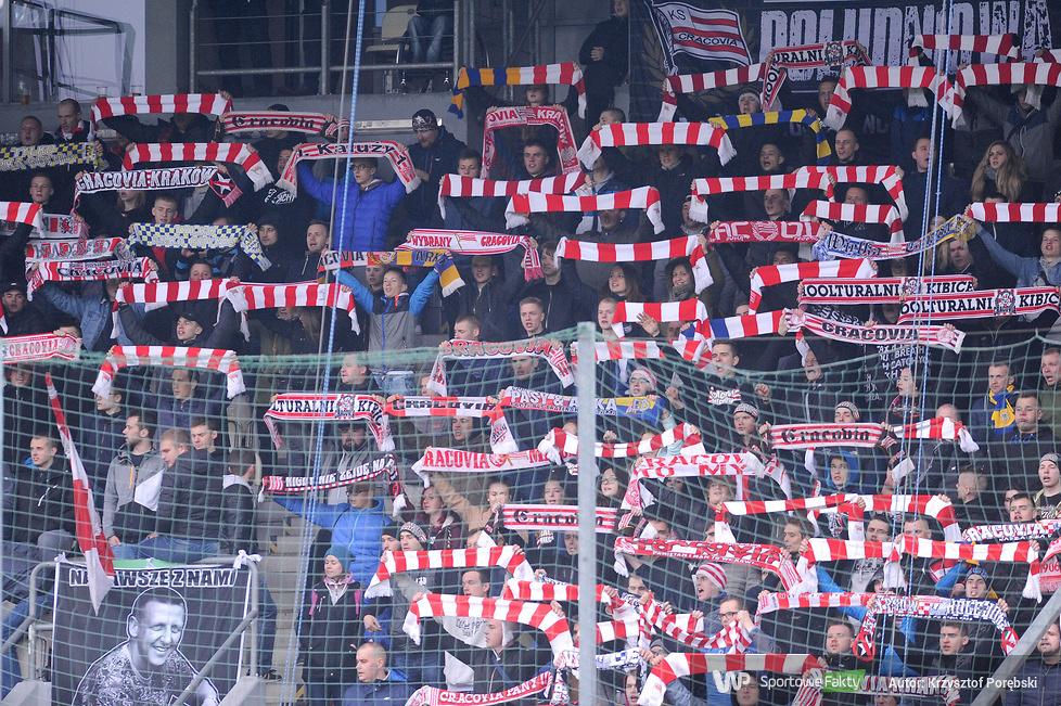 Kibice podczas meczu Cracovia - Lechia Gdańsk (galeria)