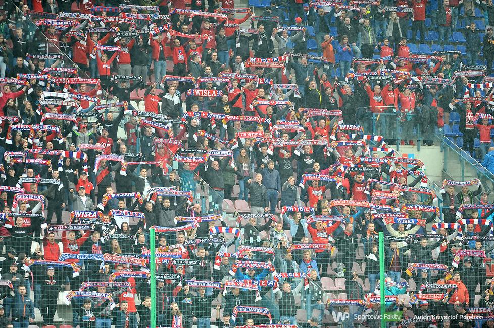 Kibice podczas meczu Wisła Kraków - Śląsk Wrocław (galeria)