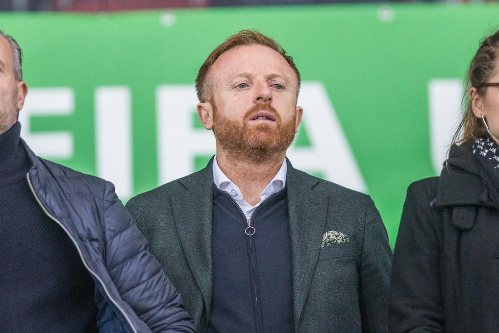 Spotkanie obserwował też trener Lechii Gdańsk, Piotr Stokowiec. FOT. M...
