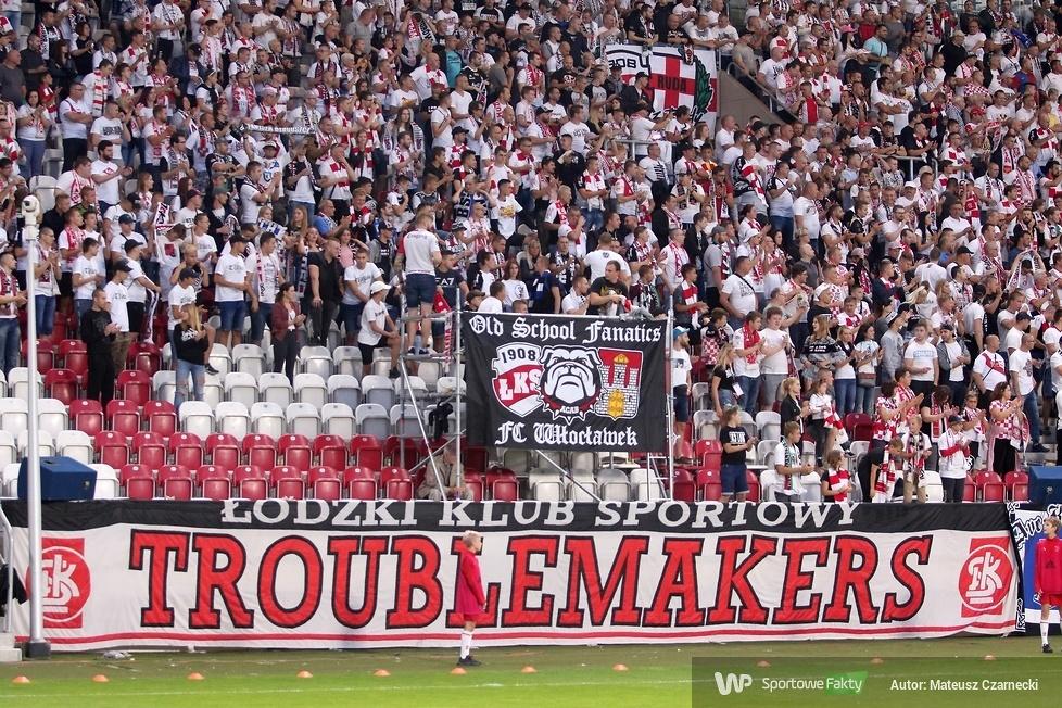 Kibice podczas meczu ŁKS Łódź - Lechia Gdańsk (galeria)