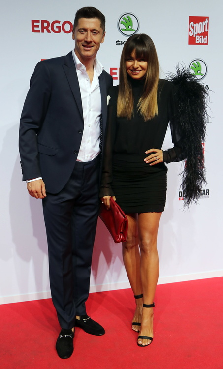 Na zdjęciu: Robert i Anna Lewandowscy...