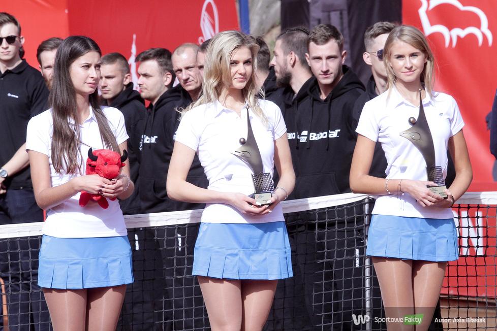Pekao Szczecin Open: dekoracja finalistów gry pojedynczej (galeria)