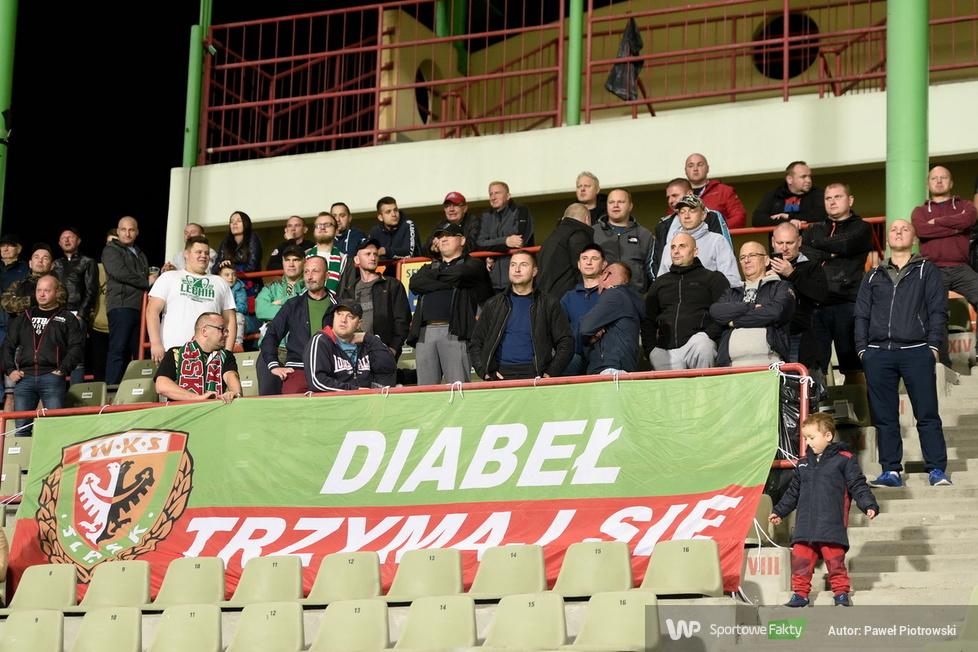 PKO Ekstraklasa: kibice podczas meczu Raków Częstochowa - Śląsk Wrocław (galeria)