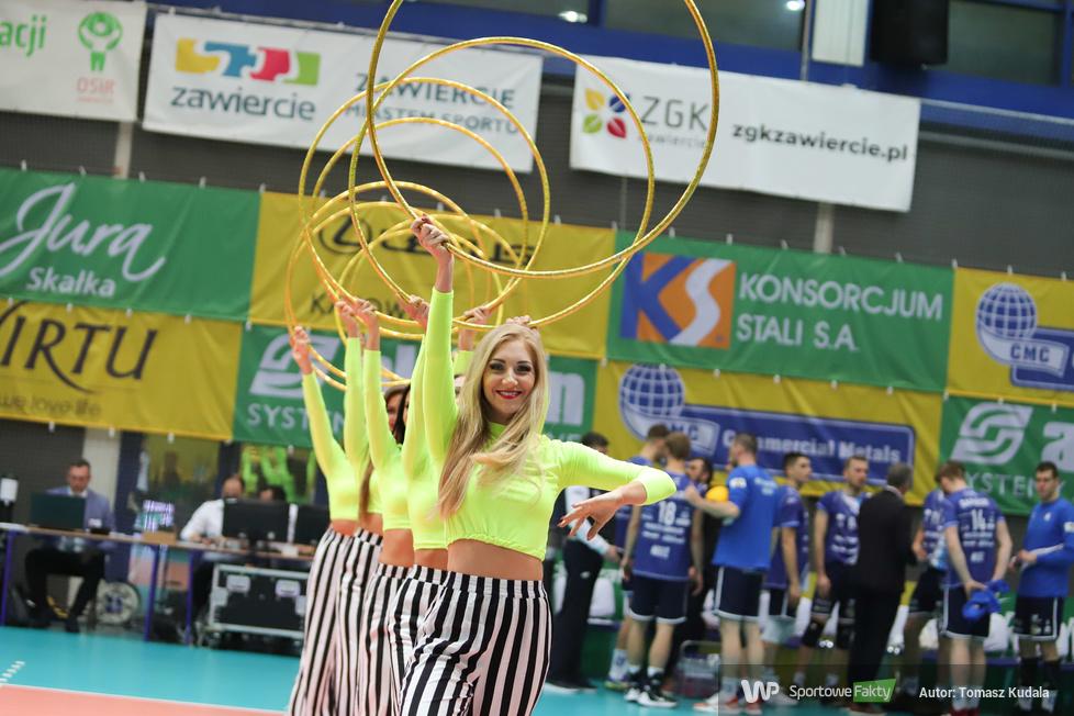 Cheerleaderki na meczu Aluron Virtu CMC Zawiercie - Ślepsk Malow Suwałki (galeria)