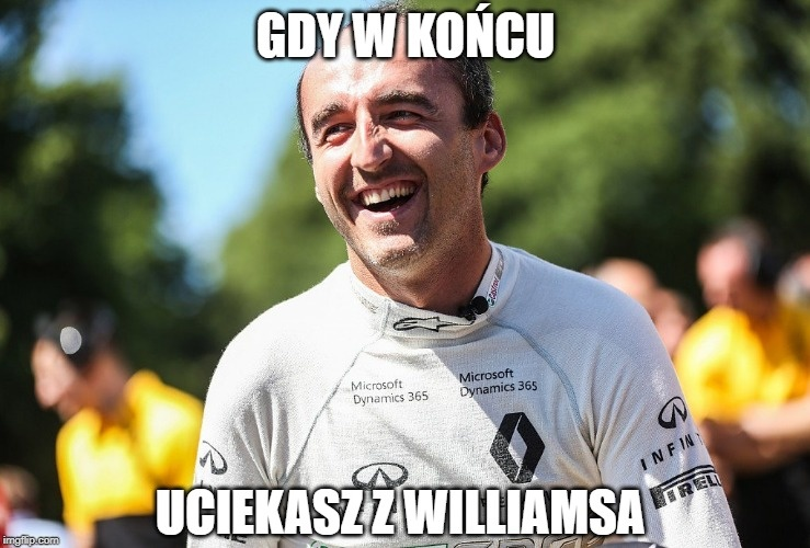 F1: GP Abu Zabi. Robert Kubica żegna się z Williamsem. Zobacz najlepsze memy (galeria)