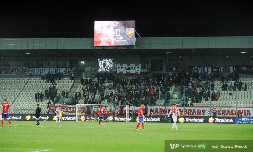 Totolotek Puchar Polski: kibice podczas meczu Cracovia - Raków Częstochowa (galeria)