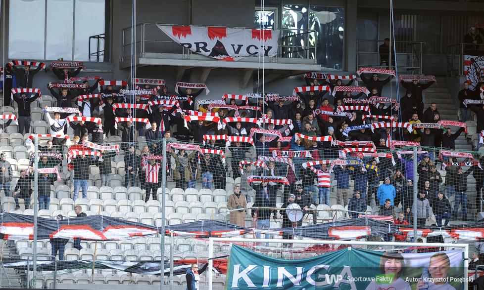 Kibice podczas meczu Cracovia - Raków Częstochowa (galeria)