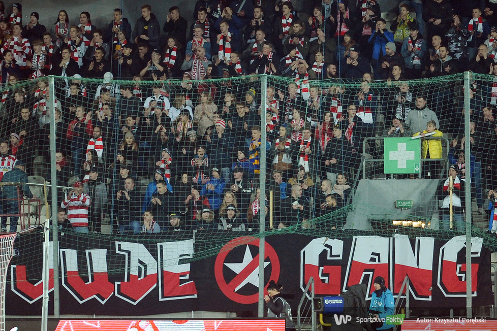 Kibice podczas meczu Cracovia - Śląsk Wrocław (galeria)