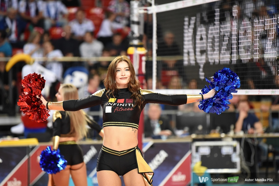 Infiniti Cheerleaders podczas meczu Grupa Azoty ZAKSA Kędzierzyn-Koźle - Jastrzębski Węgiel (galeria)