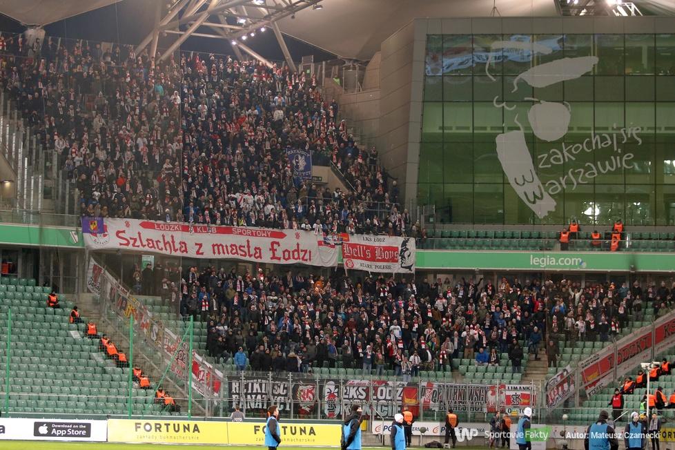 Kibice podczas meczu Legia Warszawa - ŁKS Łódź (galeria)