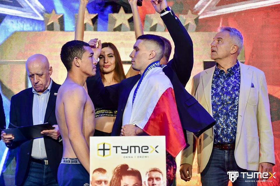 Ceremonia ważenia przed Tymex Boxing Night 11: Brodnicka - Gontaruk