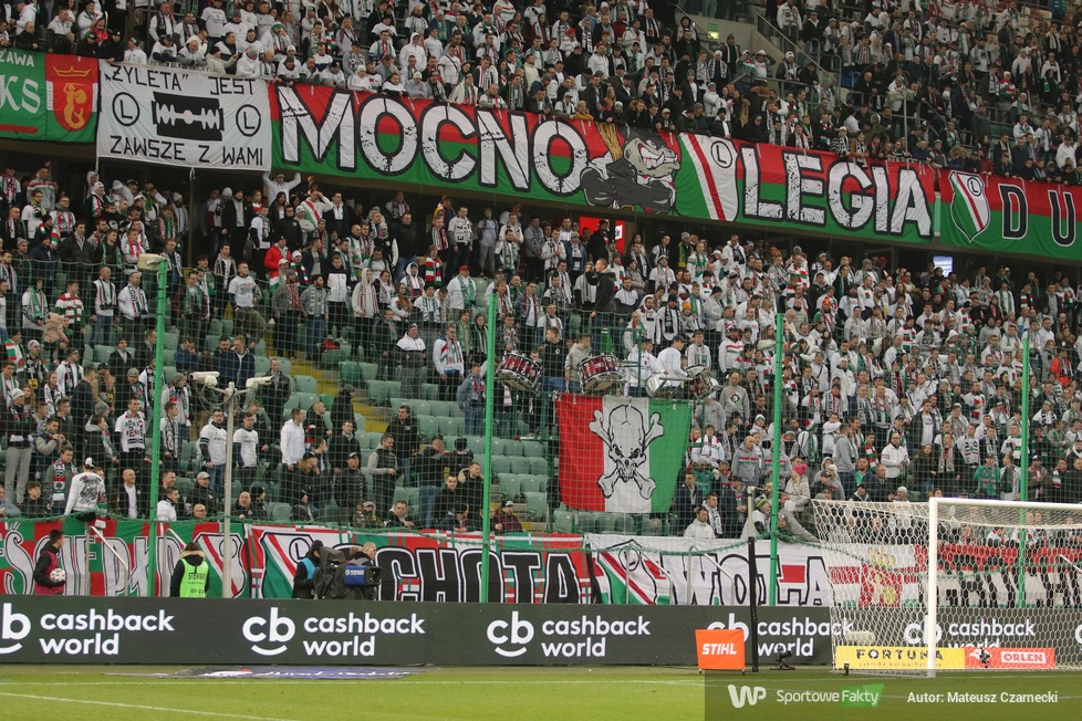 Kibice podczas meczu Legia Warszawa - Piast Gliwice (galeria)