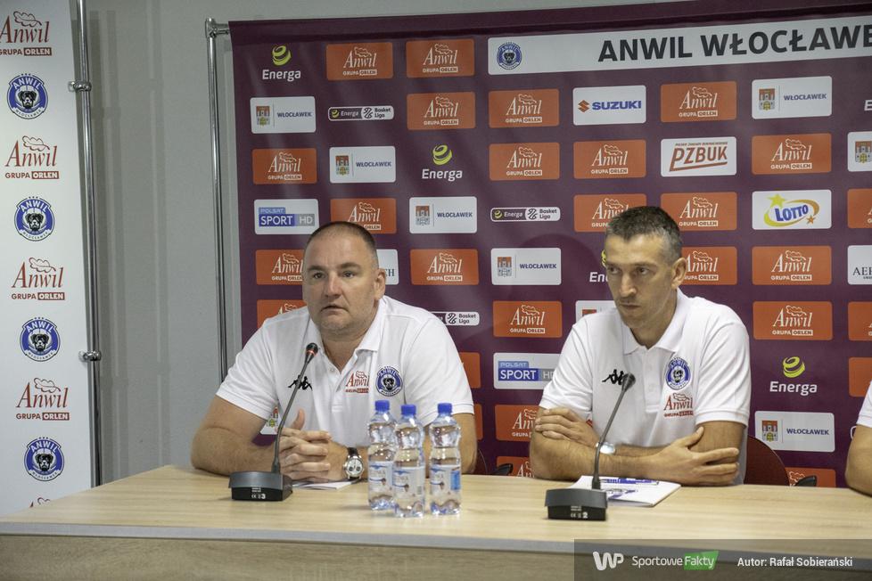 Energa Basket Liga: prezentacja trenera Dejana Mihevca w Anwilu Włocławek (galeria)