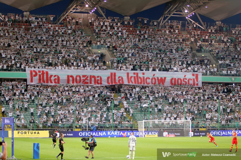 Kibice na meczu Legia Warszawa - Jagiellonia Białystok (galeria)