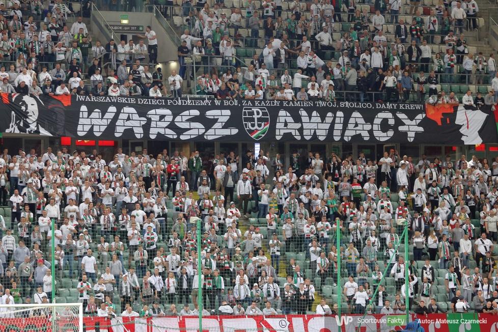 PKO Ekstraklasa: Kibice podczas meczu Legia Warszawa - Górnik Zabrze (galeria)