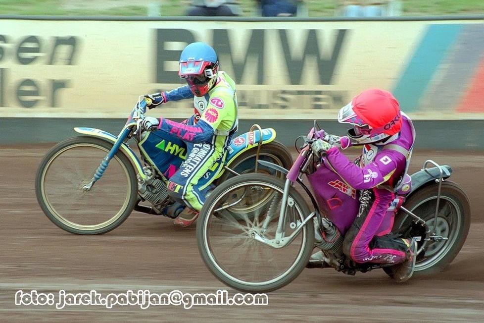 Stefan Dannoe (kask niebieski) - 4. miejsce (1,3,2,2,3) i Arnt Forland...