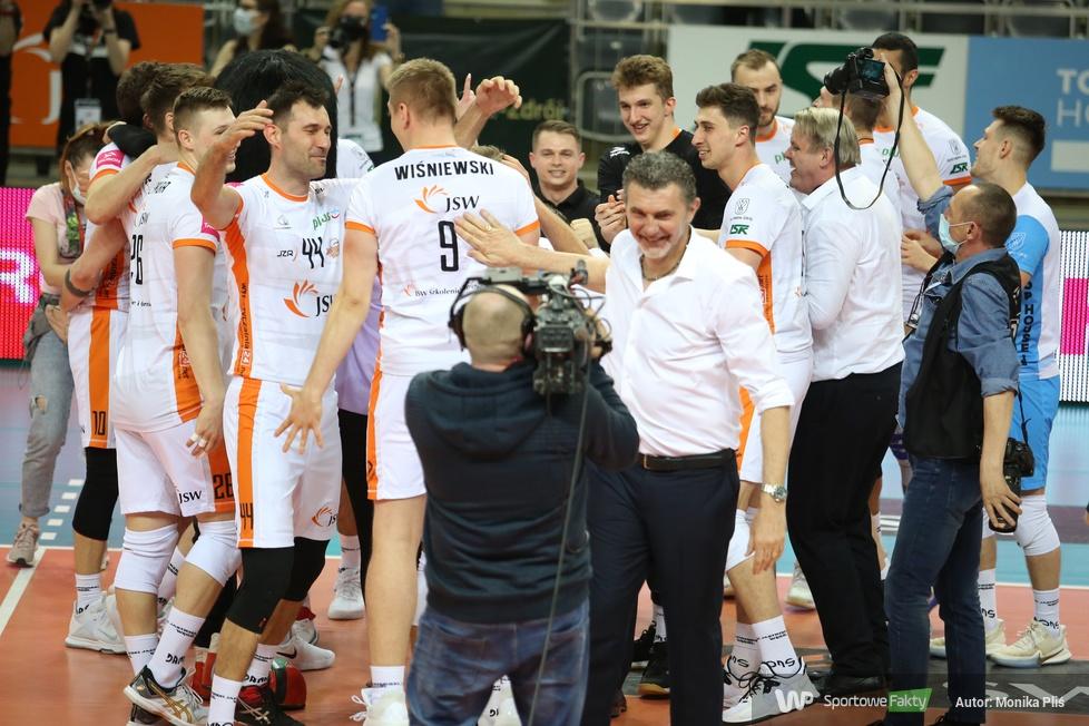 PlusLiga: 2. mecz finałowy: Jastrzębski Węgiel - Grupa Azoty ZAKSA Kędzierzyn-Koźle 3:1 (galeria)