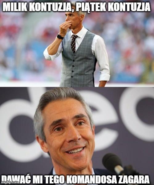 Sousa chce nowego piłkarza, Duda już wykonał telefon. Memy po kolejce