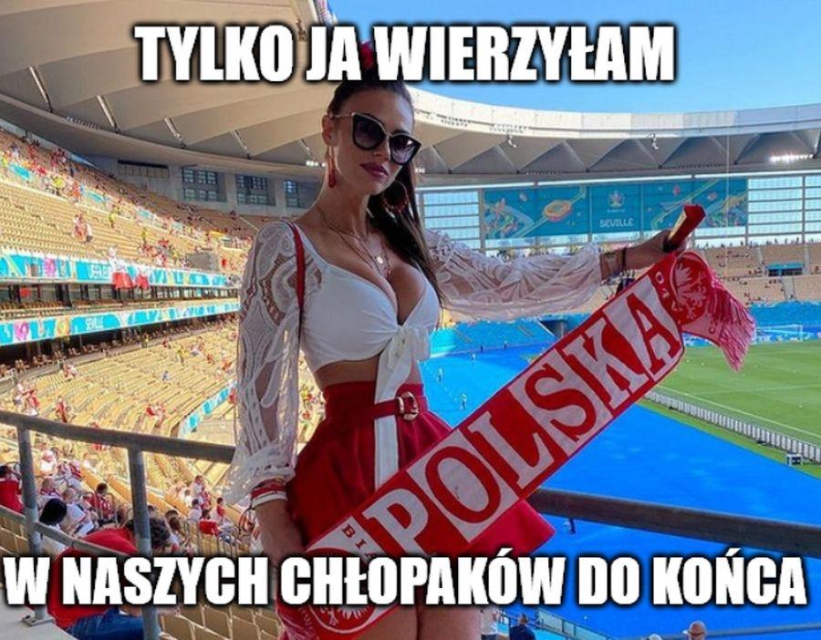 Euro 2020. Ona wierzyła w chłopaków do końca. Memy po remisie z Hiszpanią