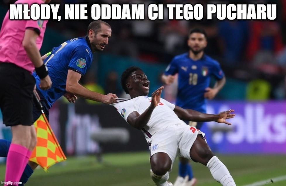 Chiellini, Shaw, Immobile - działo się! Zobacz memy po finale Euro 2020