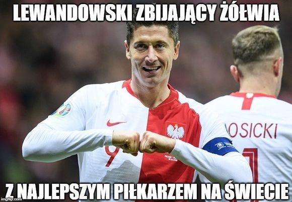 Szczęsny wiedział kiedy zejść. Lewandowski robi za wszystkich. Memy po meczu San Marino - Polska