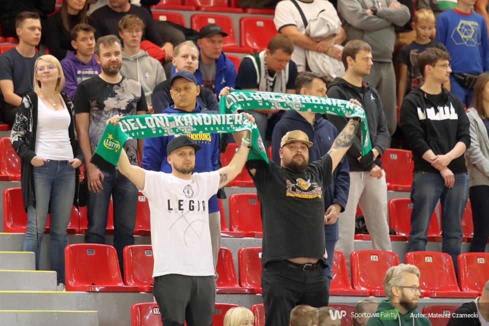 Kibice podczas meczu Legia Warszawa - PGE Spójnia Stargard (galeria)