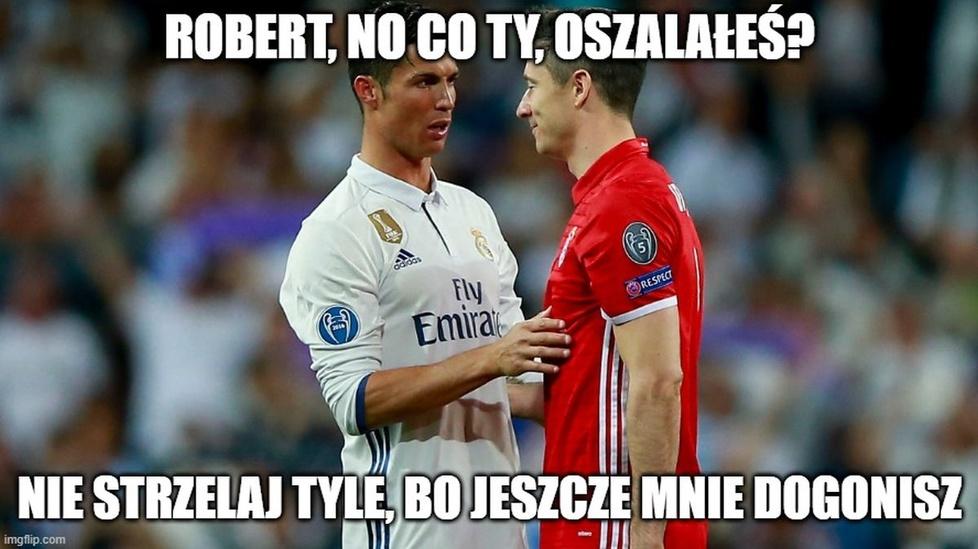 Lewandowski znowu rządził w Lidze Mistrzów. Gwiazdor Bayernu królem memów
